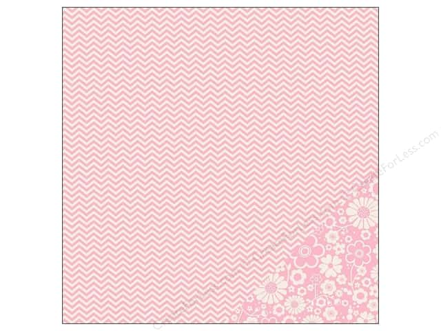 Pebbles 12 x 12 in. Paper Basics Peony Chevron (25 sheets)