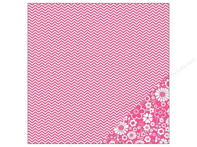 Pebbles 12 x 12 in. Paper Basics Begonia Chevron (25 sheets)