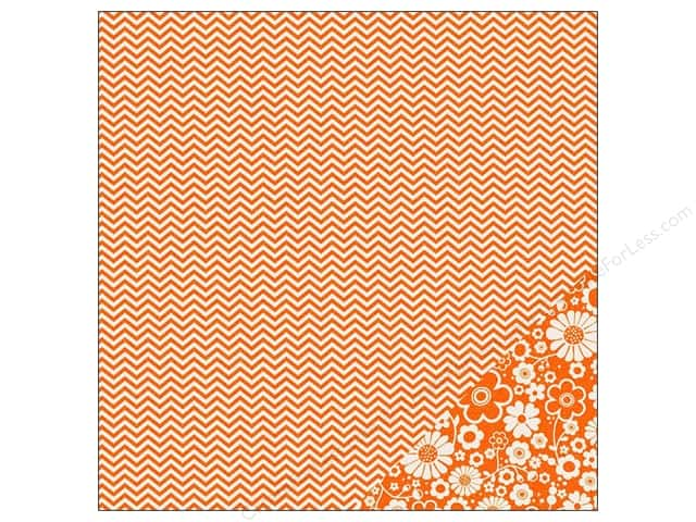 Pebbles 12 x 12 in. Paper Basics Apricot Chevron (25 sheets)