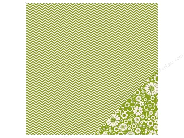 Pebbles 12 x 12 in. Paper Basics Leaf Chevron (25 sheets)