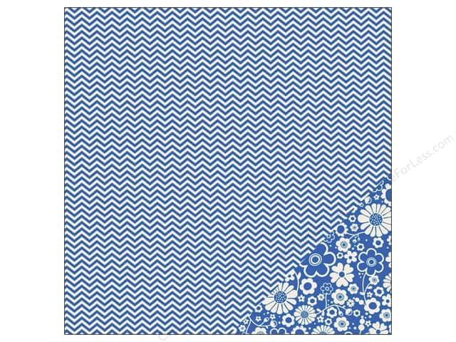 Pebbles 12 x 12 in. Paper Basics Marine Chevron (25 sheets)