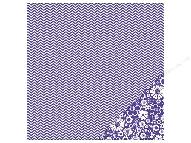 Pebbles 12 x 12 in. Paper Basics Purple Chevron (25 sheets)