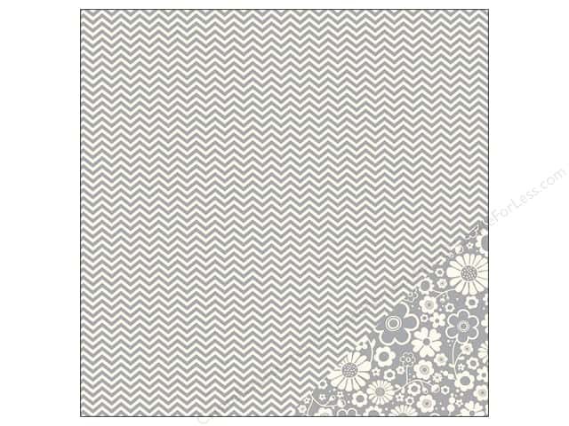 Pebbles 12 x 12 in. Paper Basics Ash Chevron (25 sheets)