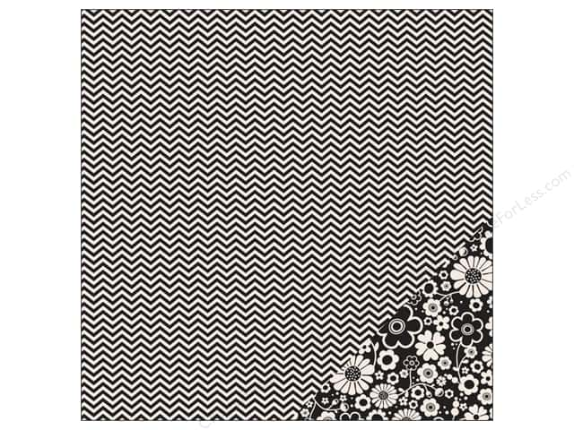 Pebbles 12 x 12 in. Paper Basics Black Chevron (25 sheets)