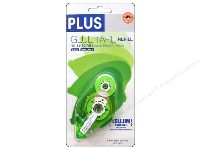 Plus Glue Tape 8.4 mm x 52 ft. Vellum Refill