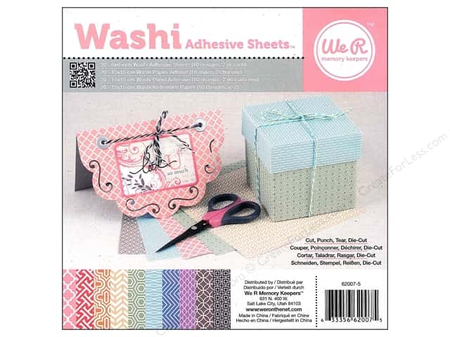 We R Memory Keepers 6 x 6 in. Washi Adhesive Sheets 20 pc.