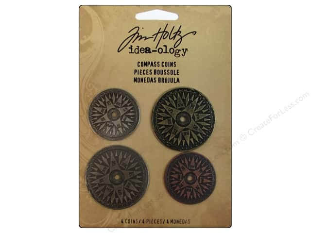 Tim Holtz Idea-ology Compass Coins