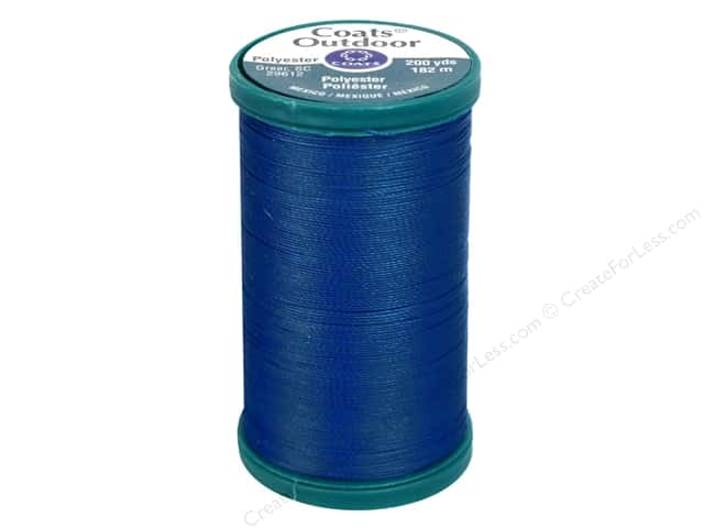 Coats Outdoor Living Thread 200 yd. #10 Monaco Blue
