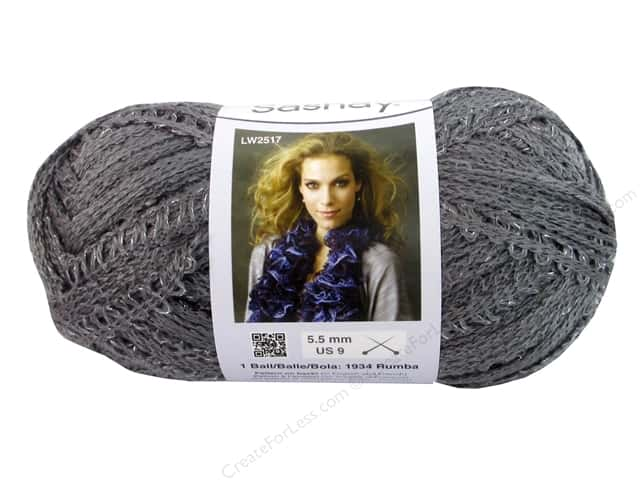Red Heart Boutique Sashay Yarn 3.5 oz. Grey