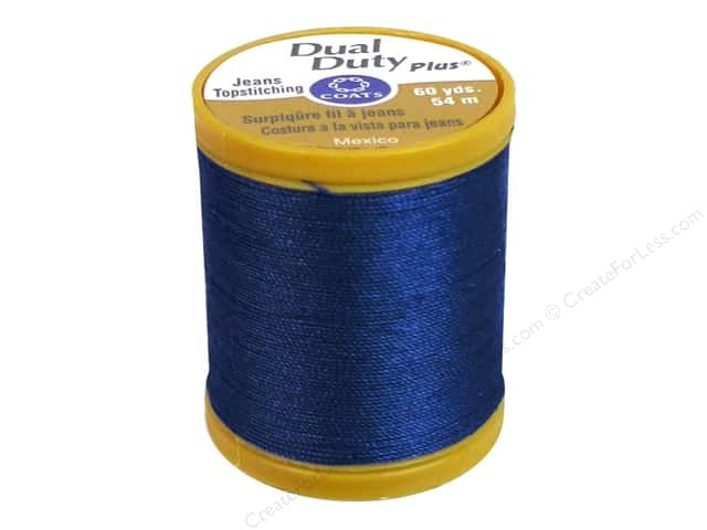 Coats Dual Duty Plus Jeans Topstitching Polyester Thread 60 yd. Monaco Blue