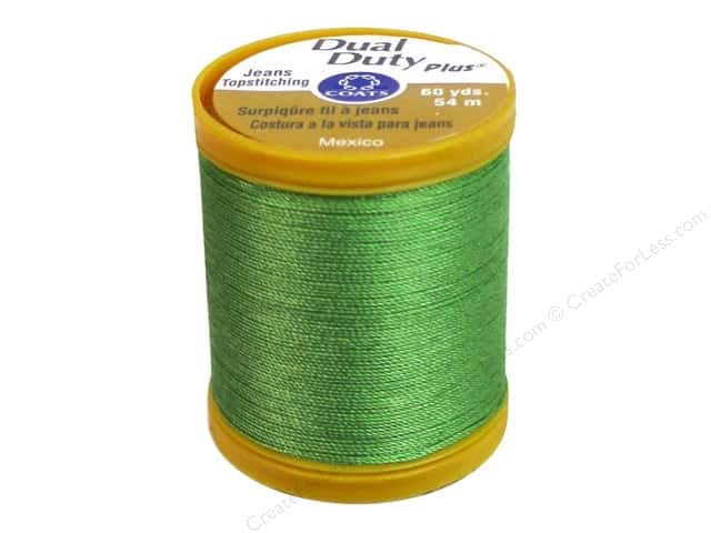 Coats Dual Duty Plus Jeans Topstitching Polyester Thread 60 yd. Bright Green
