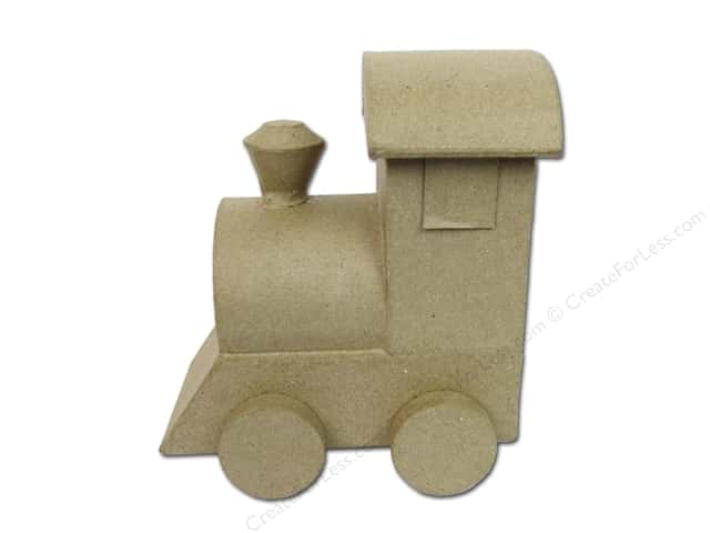 Paper Mache 3D Train by Craft Pedlars