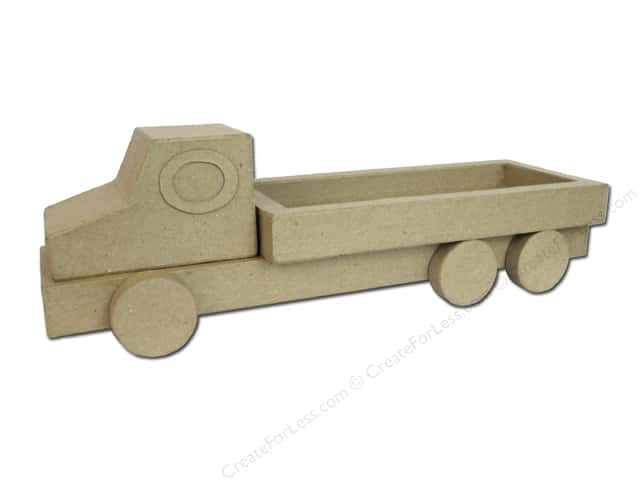 Paper Mache 3D Long Truck by Craft Pedlars
