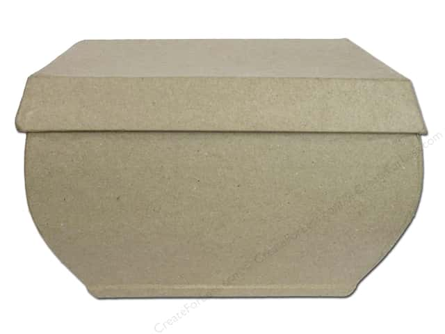 Paper Mache Box Bulging Rectangle by Craft Pedlers