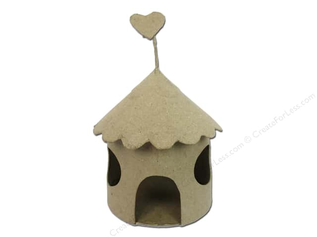 PA Paper Mache Fairy House with Round Windows 8 1/2 in.