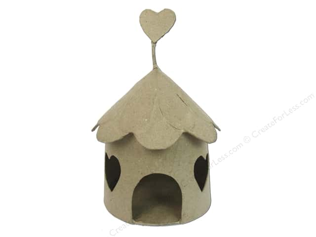 Paper Mache Fairy House Heart Window by Craft Pedlars