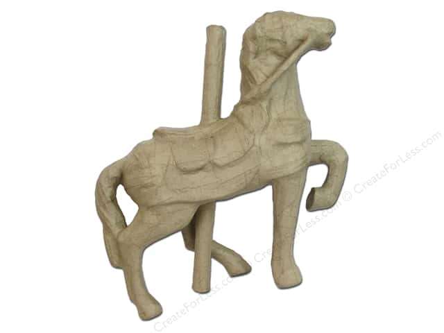Paper Mache Carousel Horse by Craft Pedlers