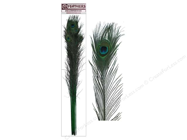 "Zucker Feather Peacock Eyes Stem 30-40"" 10pc Kelly"