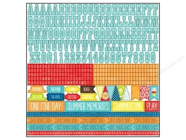 Echo Park Sticker 12 x 12 in. A Perfect Summer Collection Alphabet (15 sets)
