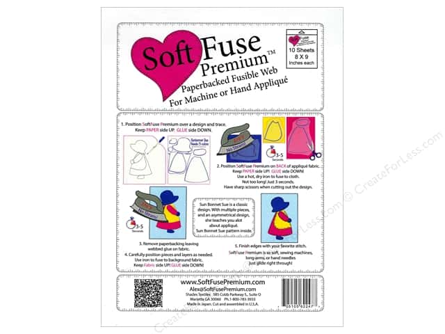 "Shades Textiles Soft Fuse Premium Web 8""x 9"" Package 10pc"