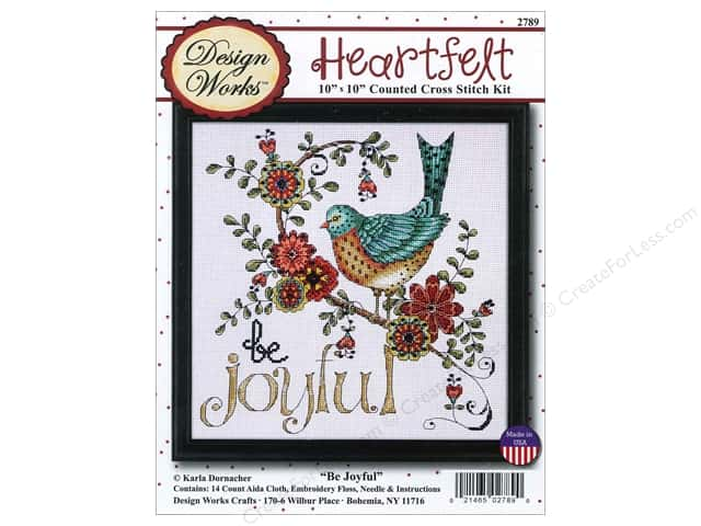 Design Works Cross Stitch Kit 10 x 10 in. Be Joyful