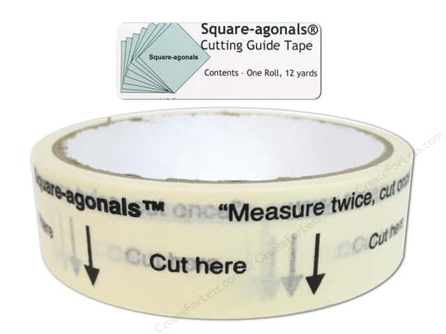 Square-agonals Cutting Guide Tape 12 yd.