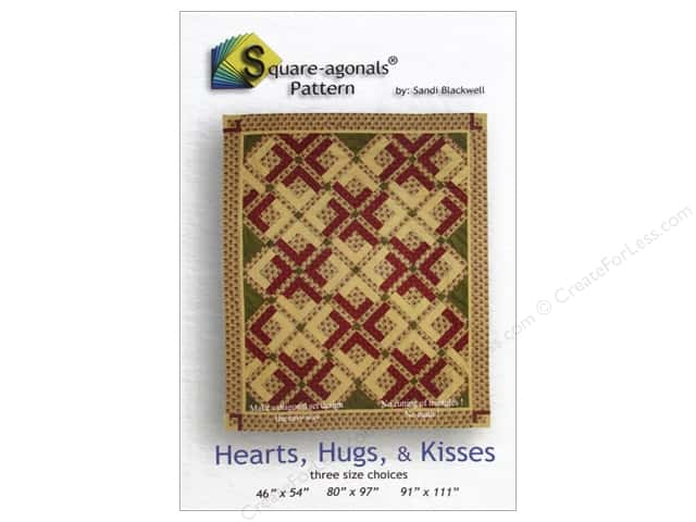 Square-agonals Hearts, Hugs & Kisses Pattern by Sandi Blackwell