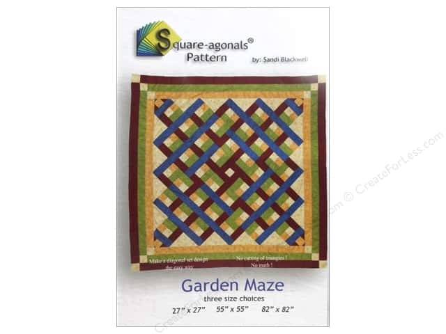 Square-agonals Garden Maze Pattern by Sandi Blackwell
