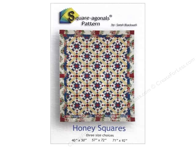 Square-agonals Honey Squares Pattern by Sandi Blackwell