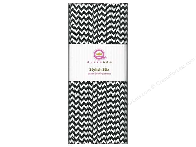 Queen&Co Stylish Stix Chevron Licorice 25pc