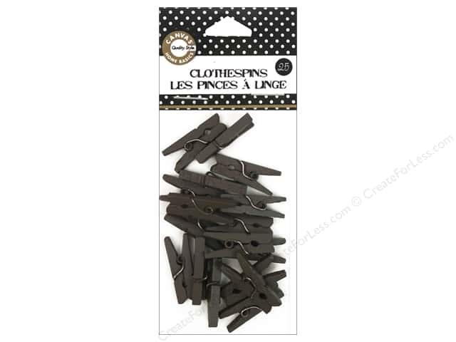 Canvas Corp Mini Clothespins 25 pc. Chocolate