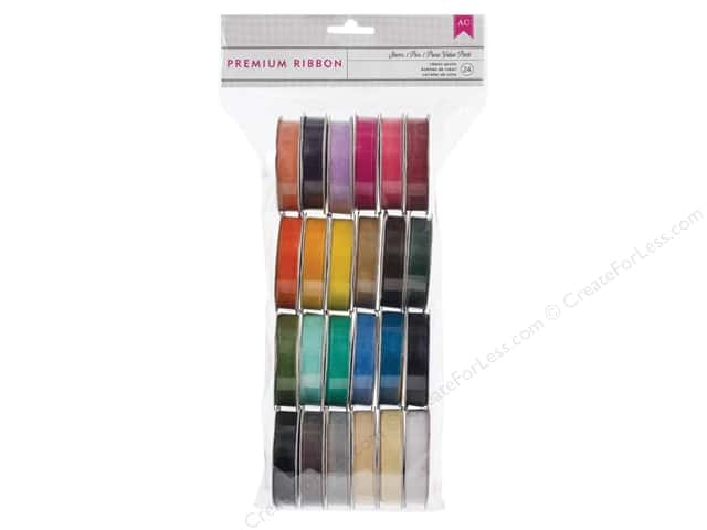 American Crafts Ribbon Value Pack 24 pc. Solid Sheer