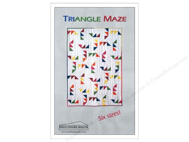 Esch House Quilts Triangle Maze Pattern