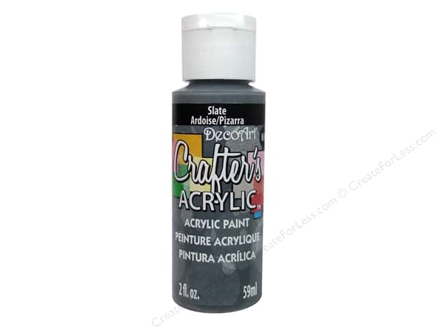 DecoArt Crafter's Acrylic Paint 2 oz. Slate