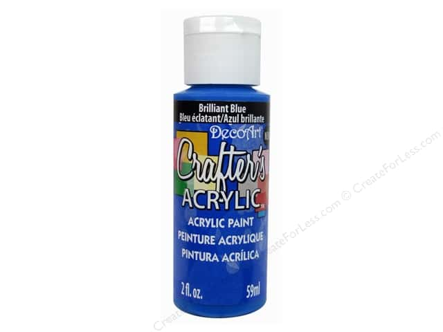 DecoArt Crafter's Acrylic Paint 2 oz. Brilliant Blue