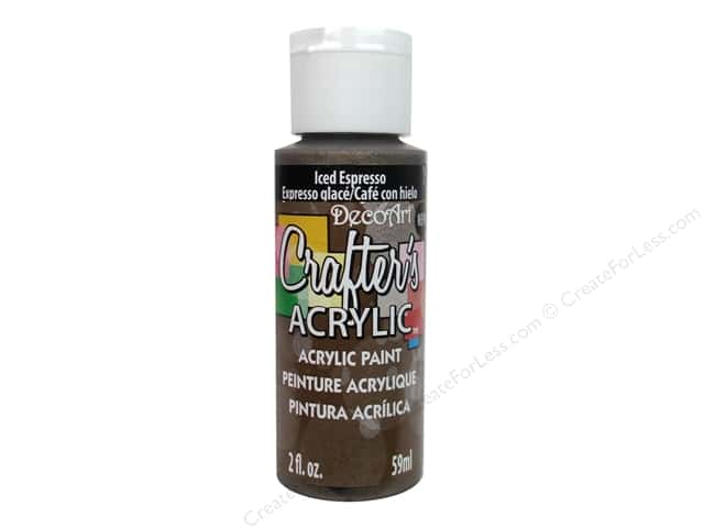 DecoArt Crafter's Acrylic Paint 2oz Iced Espresso
