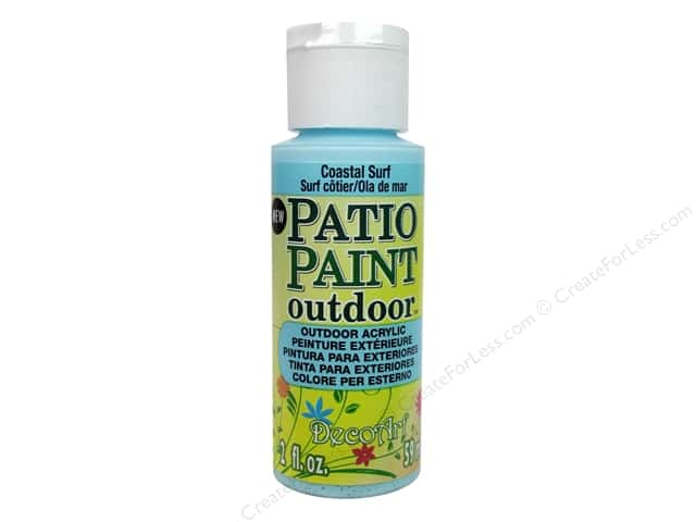 DecoArt Patio Paint Outdoor Acrylic Paint 2 oz. #80 Coastal Surf