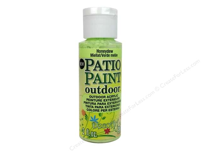 DecoArt Patio Paint Outdoor Acrylic Paint 2 oz. #81 Honeydew