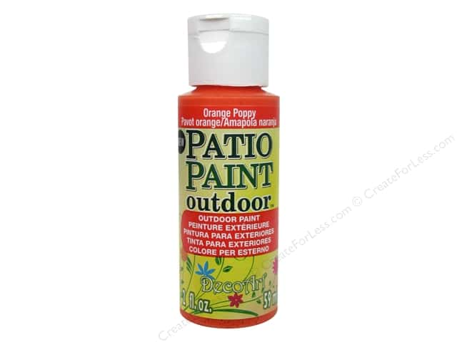 DecoArt Patio Paint Outdoor Acrylic Paint 2 oz. #82 Orange Poppy