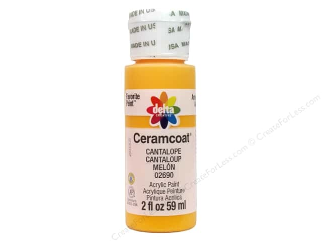 Ceramcoat Acrylic Paint by Delta 2 oz. #2690 Cantalope