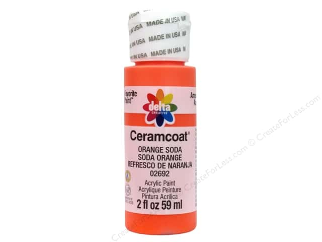 Ceramcoat Acrylic Paint by Delta 2 oz. #2692 Orange Soda
