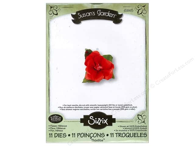 Sizzix Thinlits Die Set 11 pc. Hibiscus Flower
