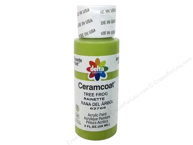 Ceramcoat Acrylic Paint by Delta 2 oz. #2709 Tree Frog