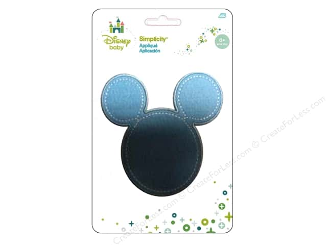 Simplicity Appliques Disney Baby Iron On Mickey Head