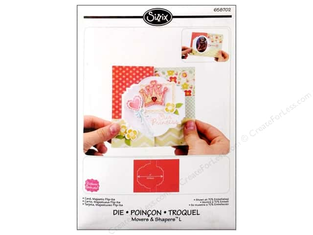 Sizzix Movers & Shapers L Die Card Majestic Flip-Its by Stephanie Barnard
