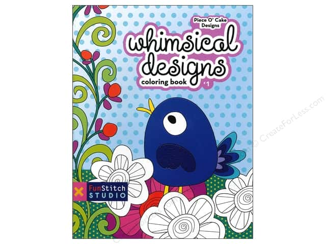 FunStitch Studio Whimsical Designs Coloring Book: Teaches You: Color Wheel, Design Practices - Applique, Creative Play Book