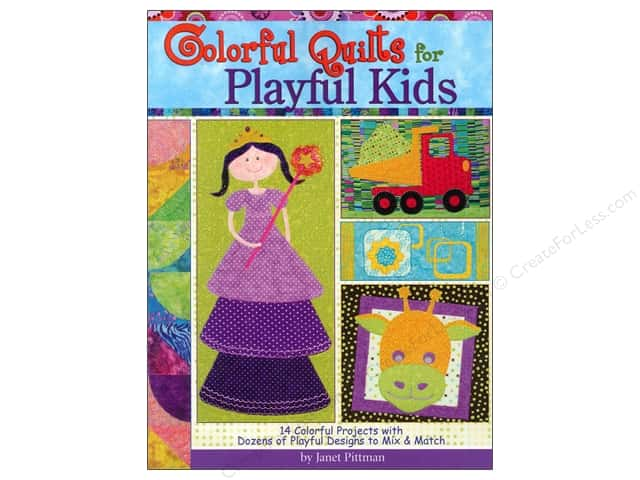 Landauer Colorful Quilts For Playful Kids Book by Janet Pittman