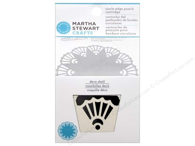 Martha Stewart Circle Edge Punch Cartridge Deco Shell