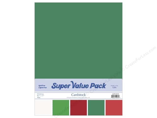 Cardstock Super Value Pack 8 1/2 x 11 in. Christmas Variety 40 pc.
