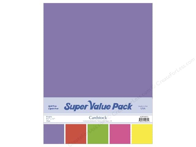 Cardstock Super Value Pack 8 1/2 x 11 in. Brights Variety 40 pc.